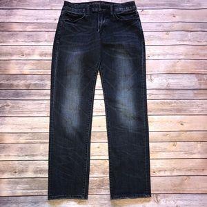 Mens American Eagle Slim Straight Distressed Jeans